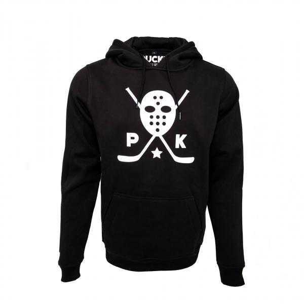 PUCK Squad hoodie white mask